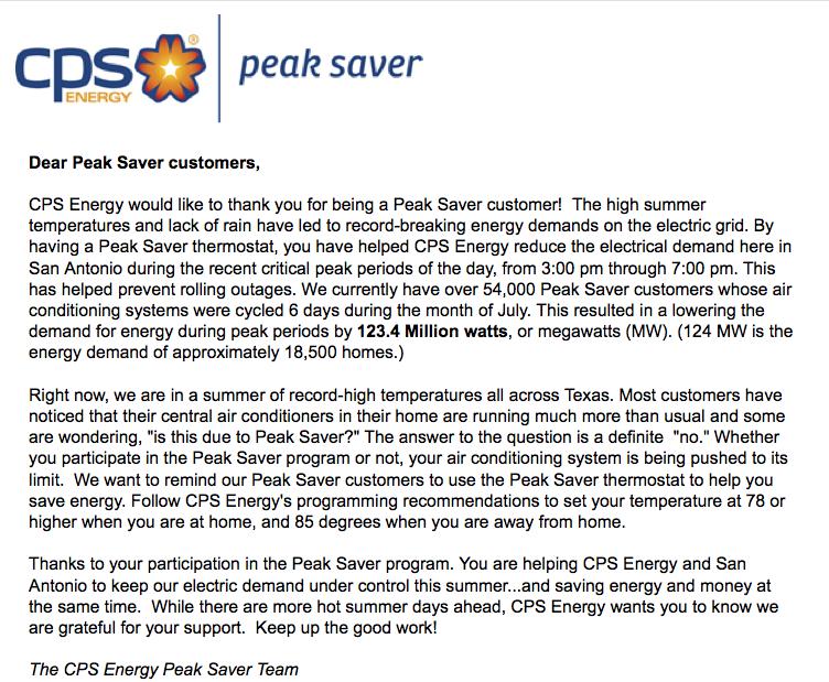 I\'m a San Antonio CPS Peak Saver – Angela Bartels